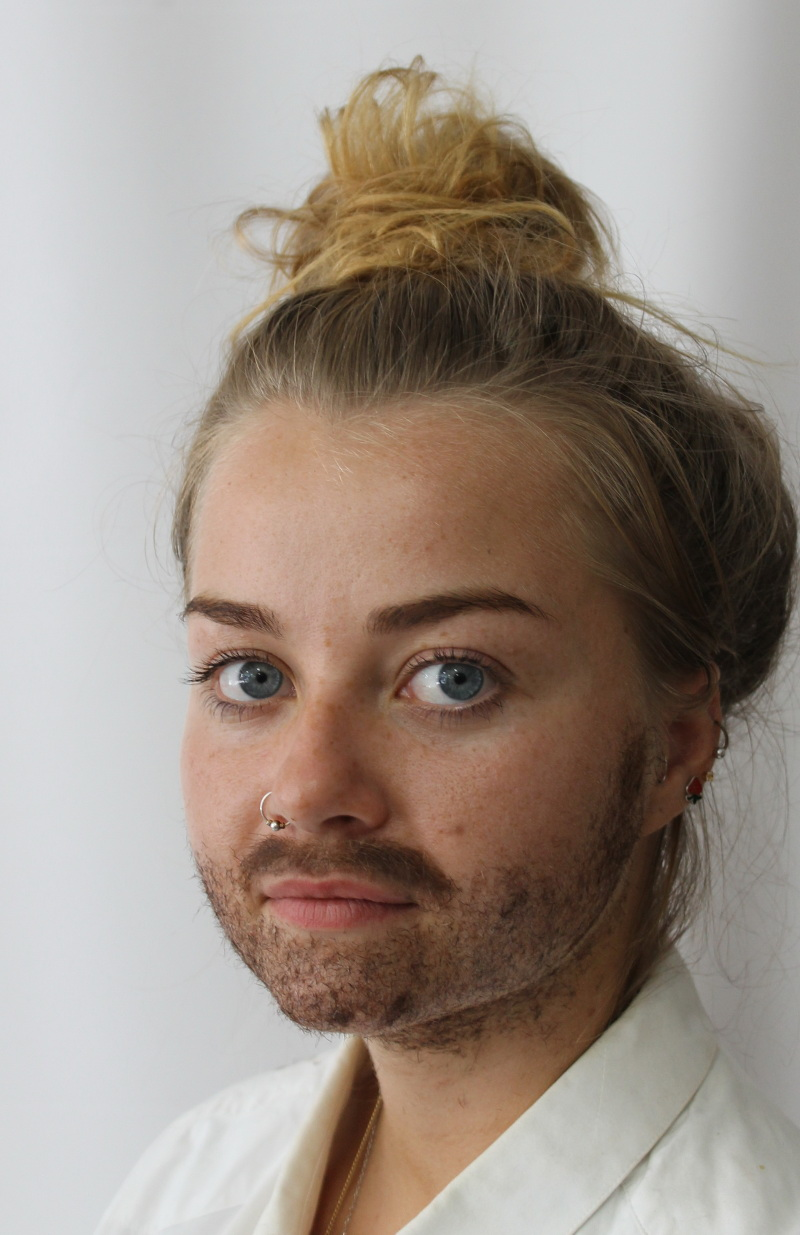 media makeup course assessment 2016 - adding facial hair moustache and beard stubble