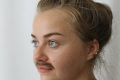 media makeup course assessment 2016 - adding facial hair moustache 2
