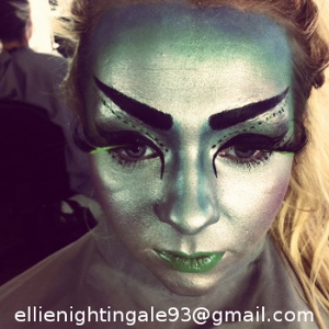 alien themed makeup by Centre Stage Studio student, Ellie Nightingale