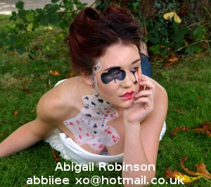 Hair and makeup by Abigail Robinson, Centre Stage Studio student