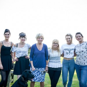 media makeup and hair course students