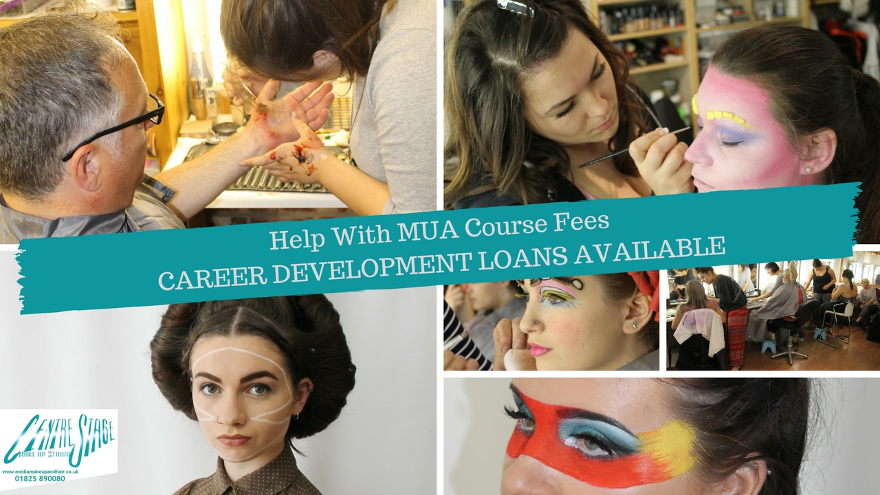 Help with course fees - Career Development Loans available for students studying the Complete Media Makeup and Hair Course